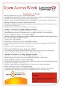 Open Access Week lunchtime talks - Lancaster University