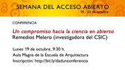 Conferencia de Reme Melero en la Universidad de Navarra