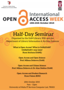 Open Access Week - Half-day Seminar