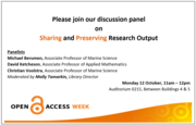 Sharing and Preserving Research Outp