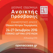 Open Access Week 2016 @EKT