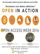 """III Jornada de Acceso Abierto en la UEx: """"Acciones con datos abiertos"""""""
