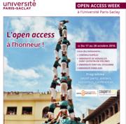 Open Access Week à l'Université Paris-Saclay
