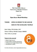 Open in order to see and be seen in the scholarly world