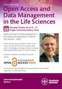 Open Access and Data Management in the Life Sciences, Karolinska Institutet University Library