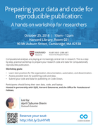 Preparing your data and code for reproducible publication: A hands-on workshop for researchers