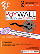 Paywall: The Business of Scholarship Movie Screening and Guided Discussion