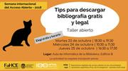 Taller: Tips para descargar bibliografía gratis y legal