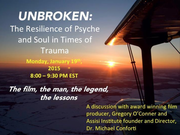 """FREE Teleseminar: """"Unbroken"""": The Resilience of Psyche and Soul in Times of Trauma"""