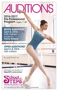 The School at Steps Pre-Professional Program Audition