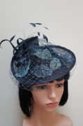 Navy & Lace Fascinator