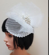 White Crinoline Fascinator