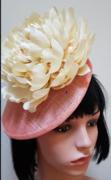 Cream Floral Fascinator