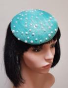 Turquoise Pearl Fascinator