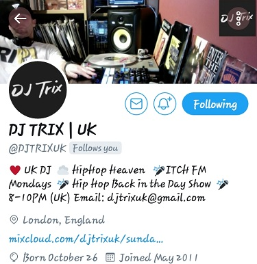 DJ Trix_Itch FM Radio Show_ London UK_Young Gifted