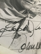 John's signature close up