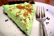 Tarta de after-eight, de menta y chocolate