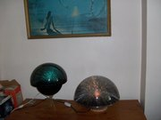 Galaxy with it's original stand next to the Jupiter 2.