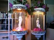 Shabby-chic rain lamps