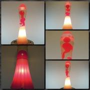White Fluidium with custom Clear/Red globe