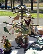 Handmade Tree to display Pottery Birds