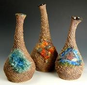 fiber study bud vases