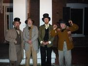 """Dave, Forrest, Carl, and Myself after like 17+""""mini shows"""" at the Wornall House"""