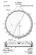 Minnie Dobson1884 Patent Drawing