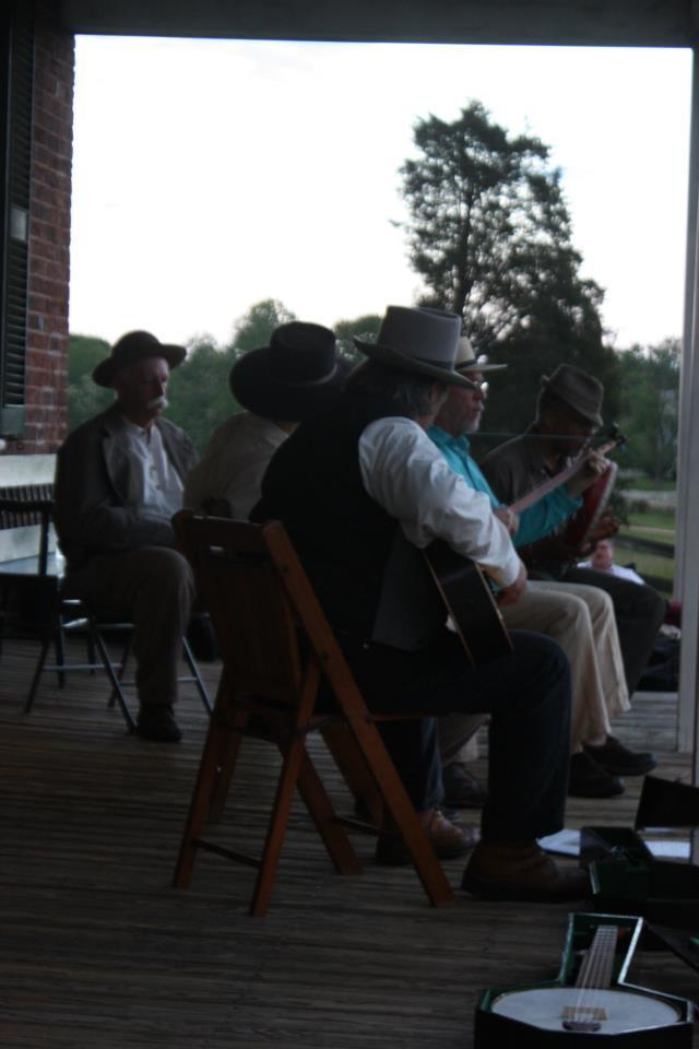 Dusk falls on the Tavern porch