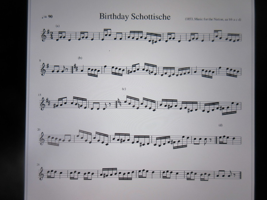 Birthday Schottische