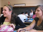 Ashley and I in English... best class ever!!!!!!!!