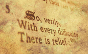 with every difficulty..