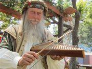 Gregg Schneeman playing the psaltery