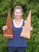 Katie with new psaltries