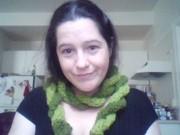 Green Twisty Scarf