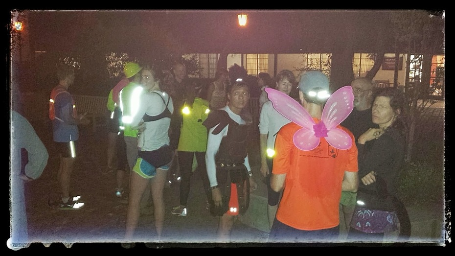 Halloween run followed by monthly dinner at Palo Alto Pizza Company