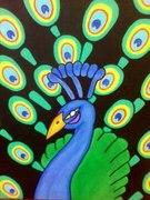 """Peacock"" 16x20/Acrylics"