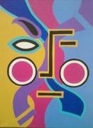 """Tribal Pop"" 16x20/Acrylics"