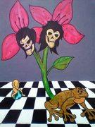 """Mutations of Earth"" 16x20/Acrylics"