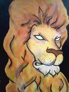 """Leo"" 11x17/Acrylics"