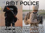 Police wear more armor