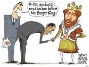Bow before burger king