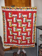 Rail fence baby quilt!