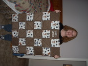 rag quilt  and My daughter