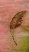 leaf feather painted