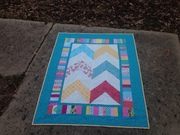 Chevron lap or baby quilt