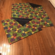 Finished matching lap and baby quilts