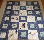 Peter Pan Story Book Quilt Top
