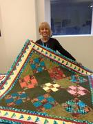 Catena and her wedding quilt