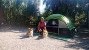 Jacki and her girls- first camping outing!  YEAH!
